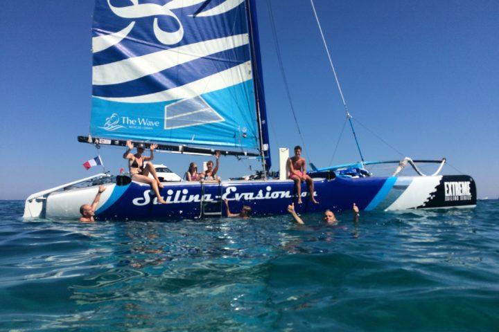 baignade catamaran cavalaire Cap Taillat Cap Lardier Saint Tropez