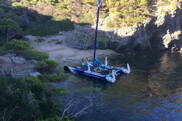 raid en catamaran bivouac cote d'azur Port-Cros Porquerolles Var Hyéres Le Lavandou